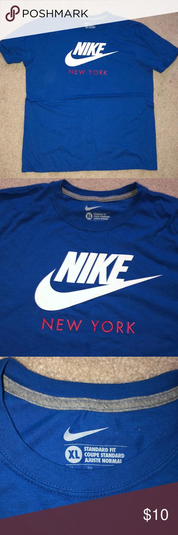Nike New York Blue Cotton ShortSleeve TShirt XL New