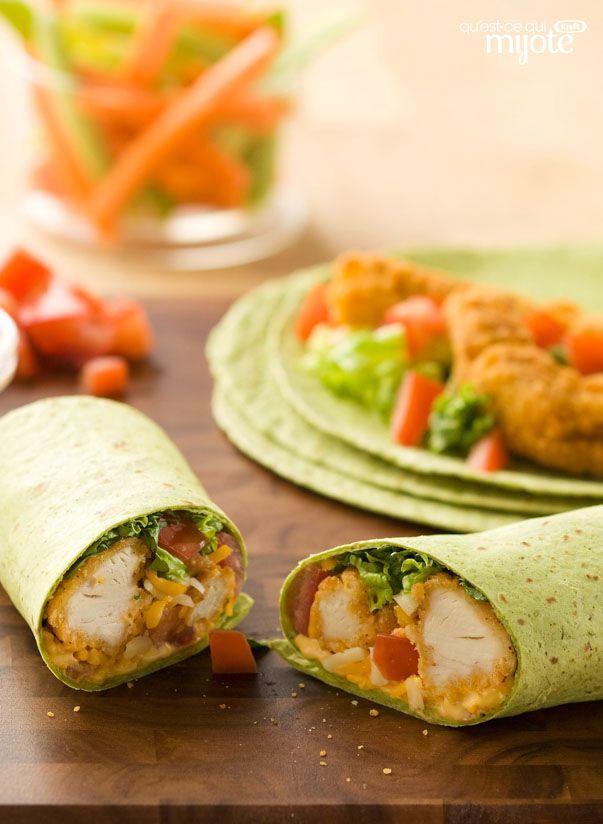 Sandwichs Roul 233 S Au Poulet 233 Pic 233 Recipe Recipes Chicken Wraps Food