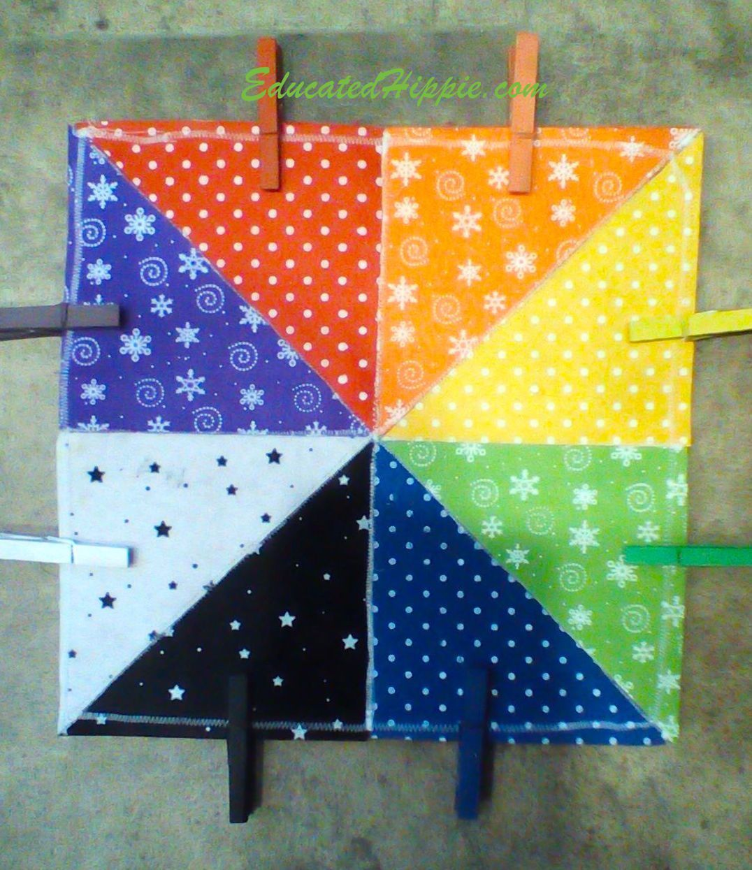 DIY Felt Color Matching Square