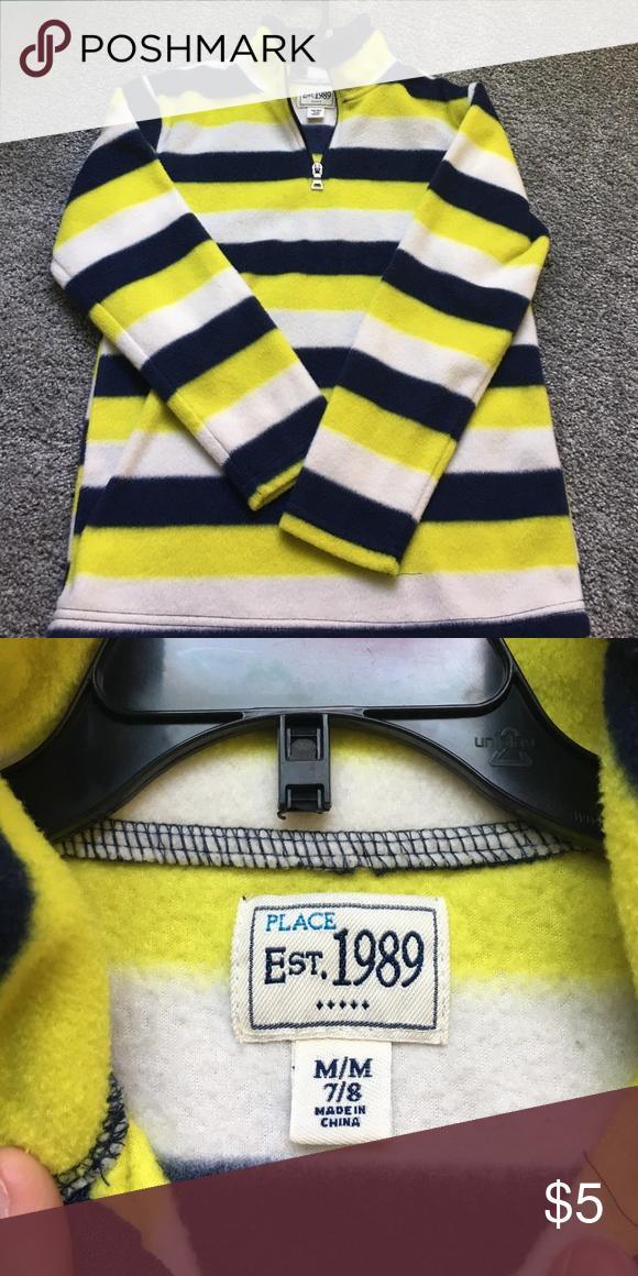 0650f7a666b5 Kids fleece pullover Boys 1 4 zip fleece pullover. Yellow