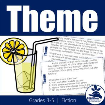 Theme Task Cards 1 (STAAR) | Theme task cards, Task cards ...