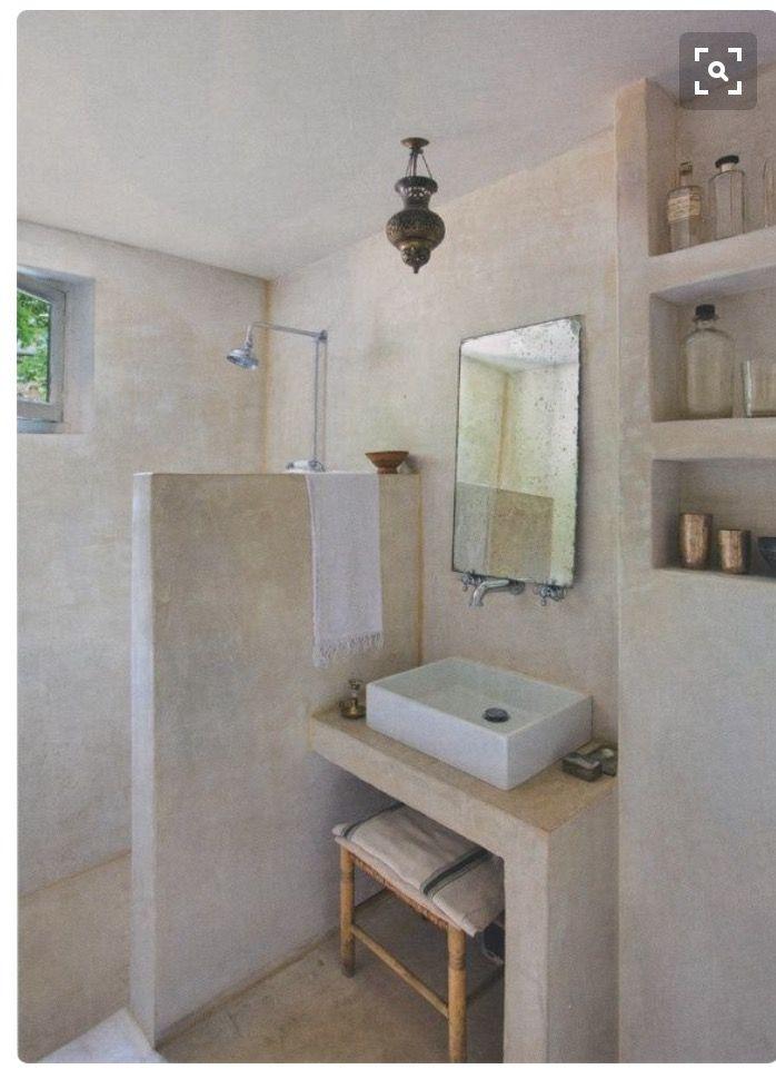 Glassless shower cuartos de baño Pinterest Baños, Baño y - paredes de cemento