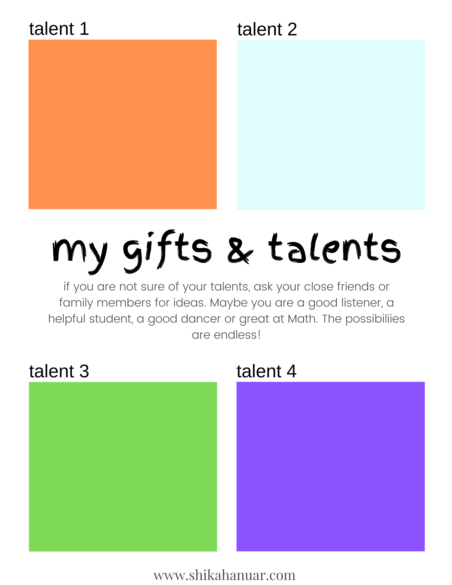 Free Printable Self Esteem Worksheets For Kids To Give Them An Instant Confidence Boost Shikah Anuar Self Esteem Worksheets Self Esteem Activities Therapy Worksheets [ 2000 x 1545 Pixel ]
