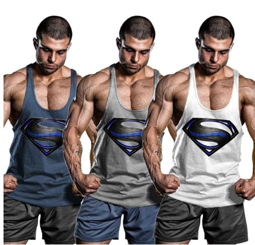 01dfea18 OA Men Superman Black Men Bodybuilding Tank Top Muscle Shirts Gym Fitness  String