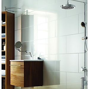 wickes white gloss ceramic wall tile 300x600mm renovations 1