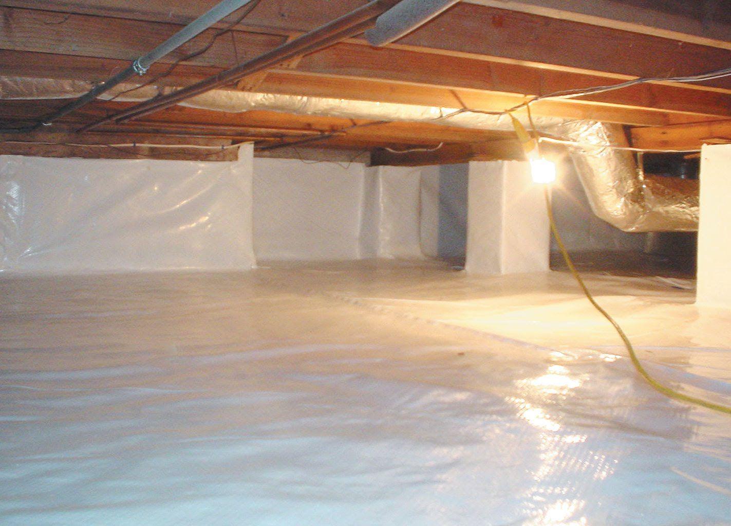 Crawl Space Waterproofing Encapsulation Jpg Remodeling Mobile Homes Crawlspace Crawl Space Encapsulation