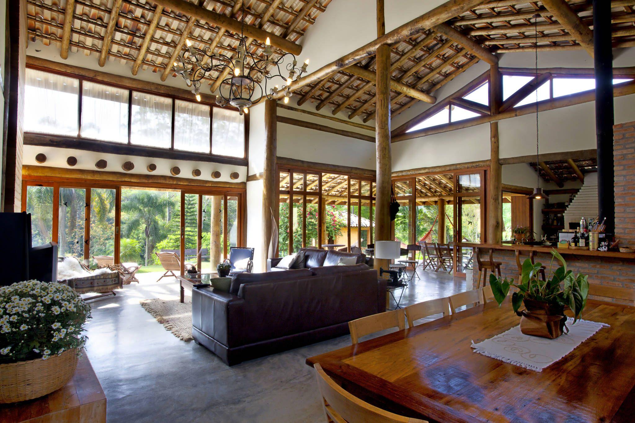 S o louren o da serra sp casas por bianka mugnatto design for Casas de campo interiores