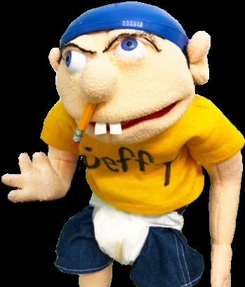 JEFFY PUPPET Authentic Super Mario Logan Main Character