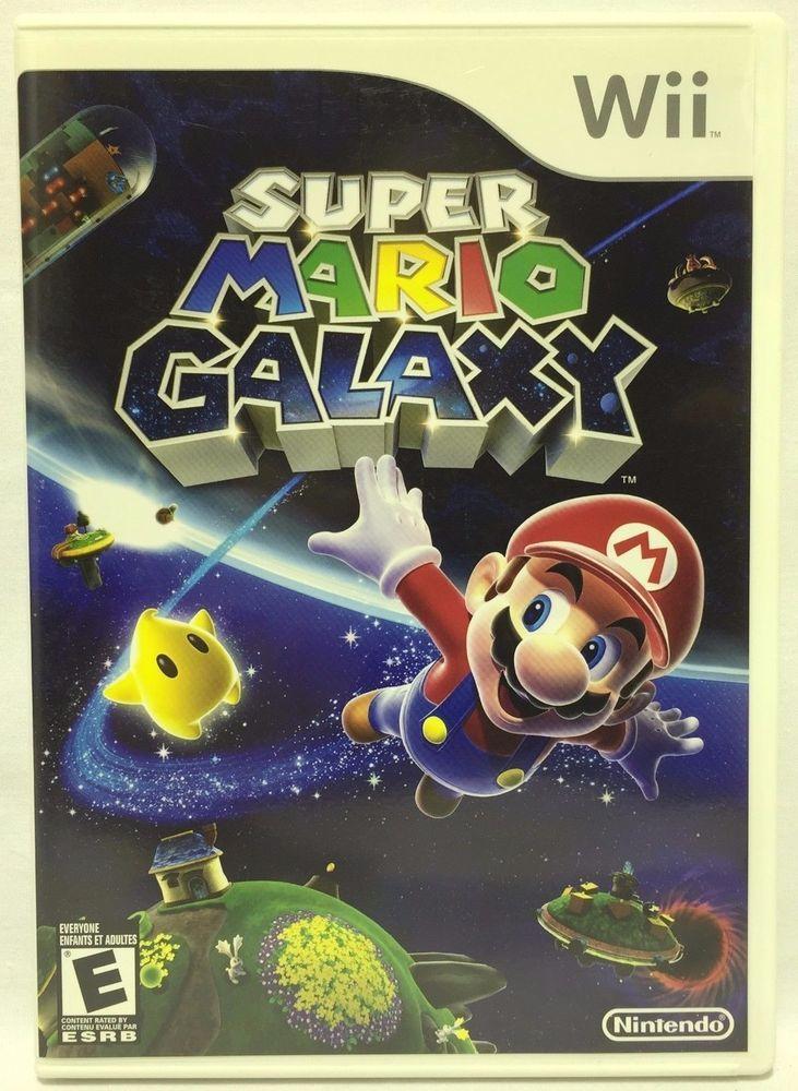 Super Mario Galaxy Nintendo Wii 2007 Super Mario Galaxy Super Mario Wii Games