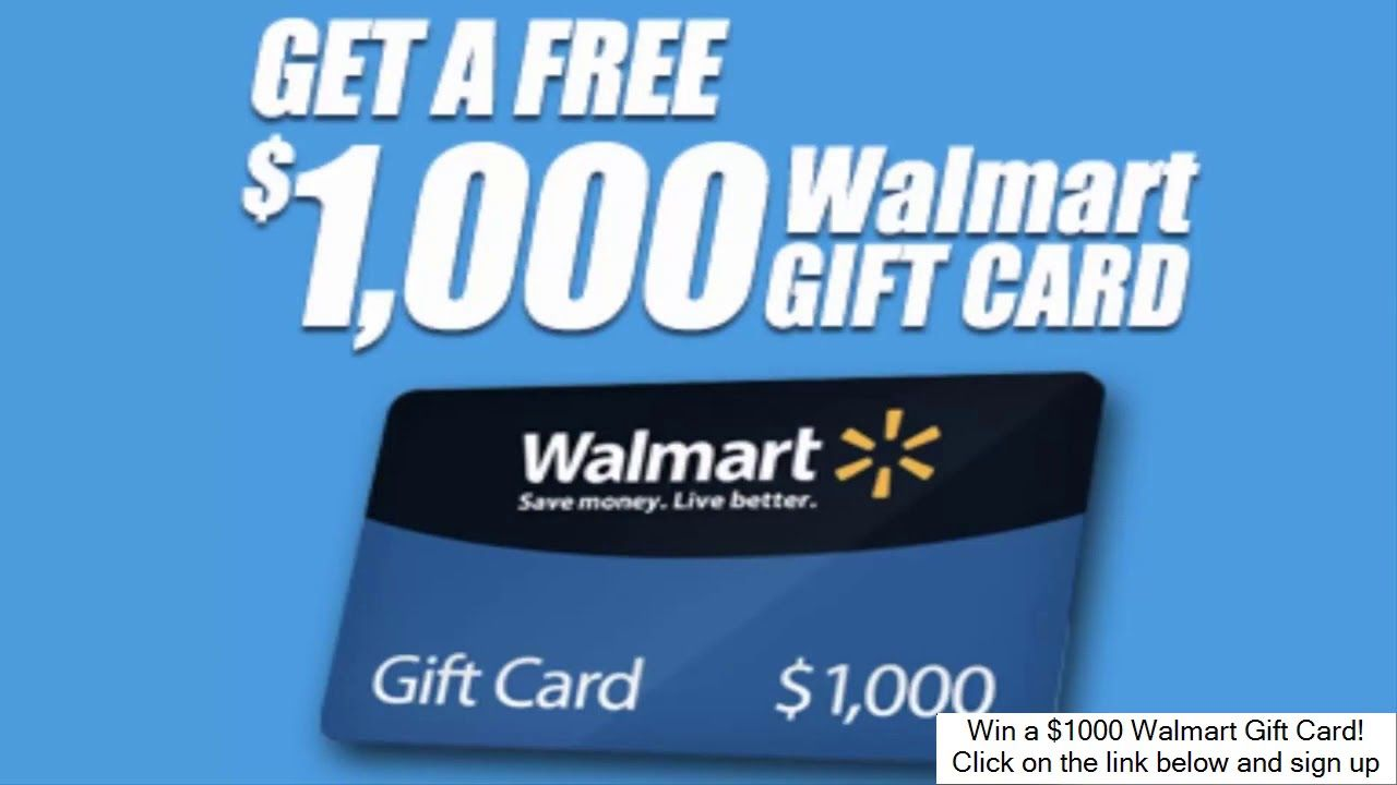 Complete survey get a 1000 walmart gift card win a
