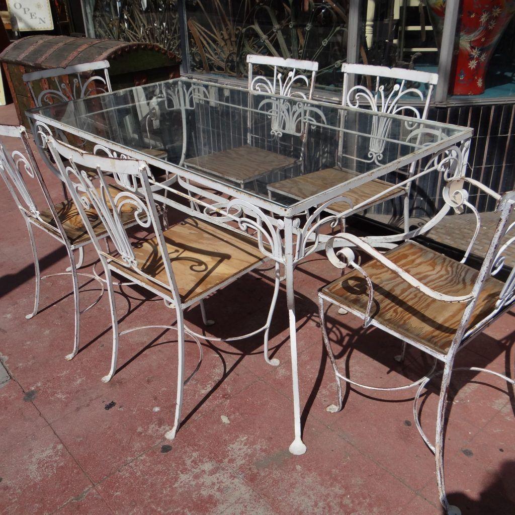 Antique Rod Iron Patio Furniture Repair Indeas For Wrought