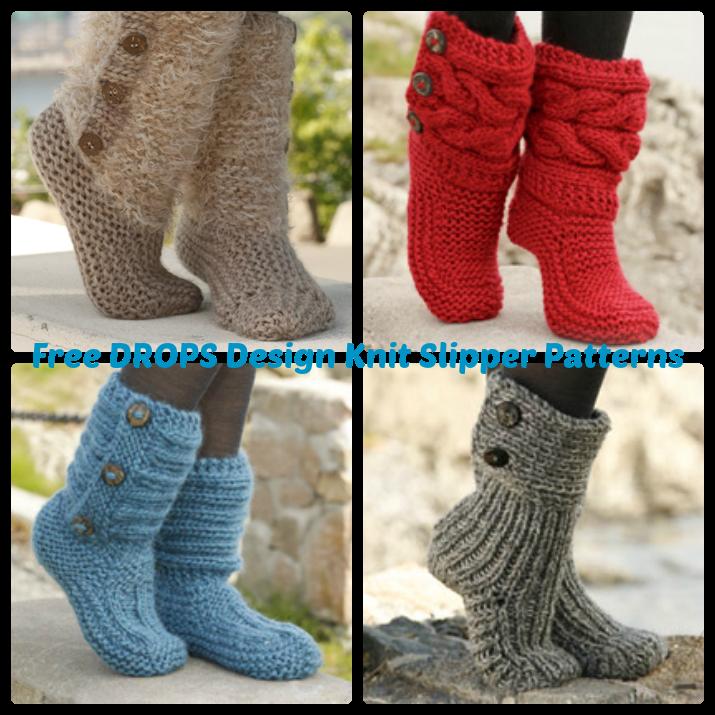 DROPS Design Free Knit Slipper Patterns | Wee Folk Art | Knitting ...