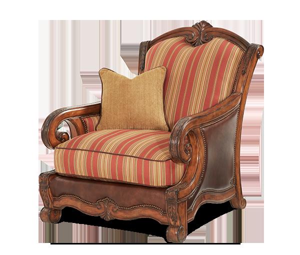 Wood Trim Leather Fabric Chair Opt1 Tuscano Michael Amini Furniture Designs Amini Com Aico Furniture Chair Fabric Furniture