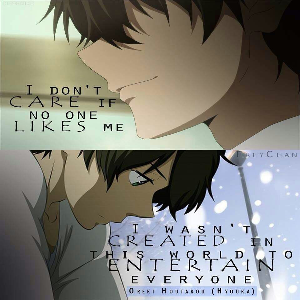 You are created for yourself to bring joy for he ones you love not some bored Manga QuotesAnime QoutesEven AnimatesSad