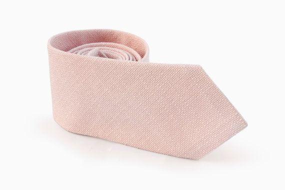 Champagne Blush Tie / Men's skinny tie / Wedding Ties ...