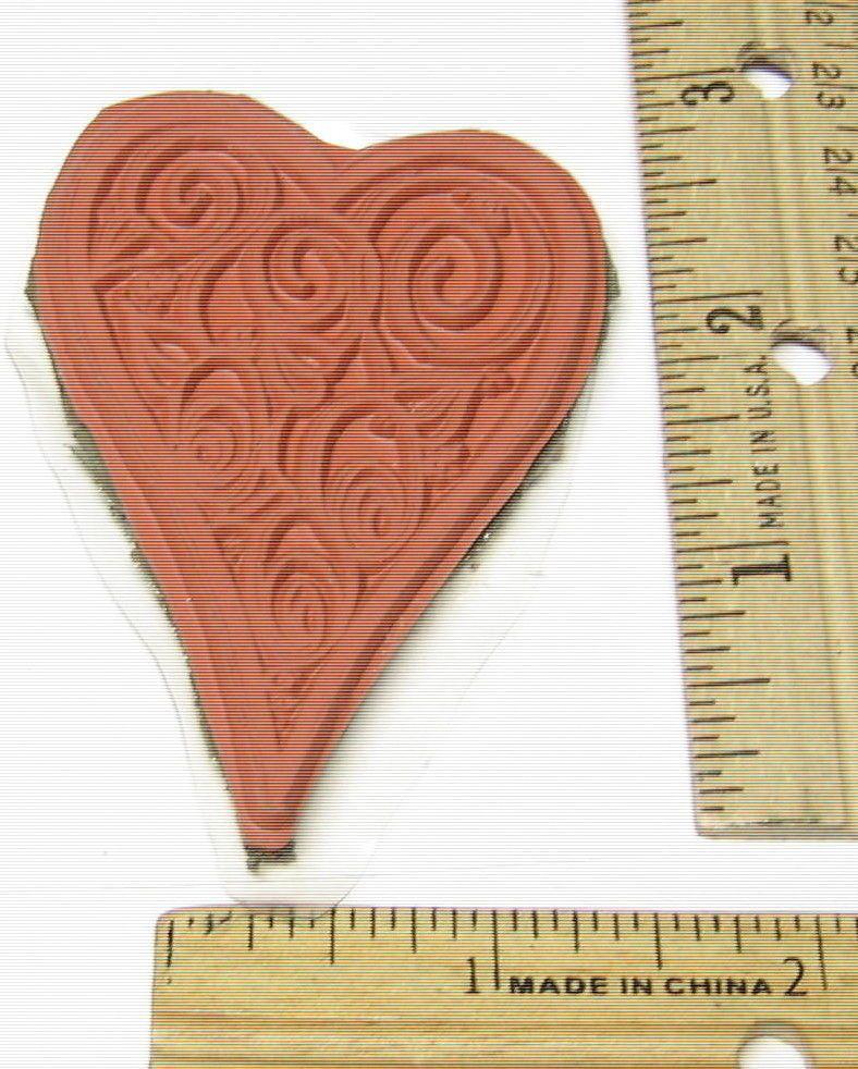 HEART SWIRLS MOUNTED ON FOAM  Rubber Stamp   #NOBRAND #regular
