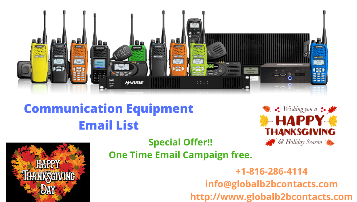Communication Equipment Services Executives List, USA is