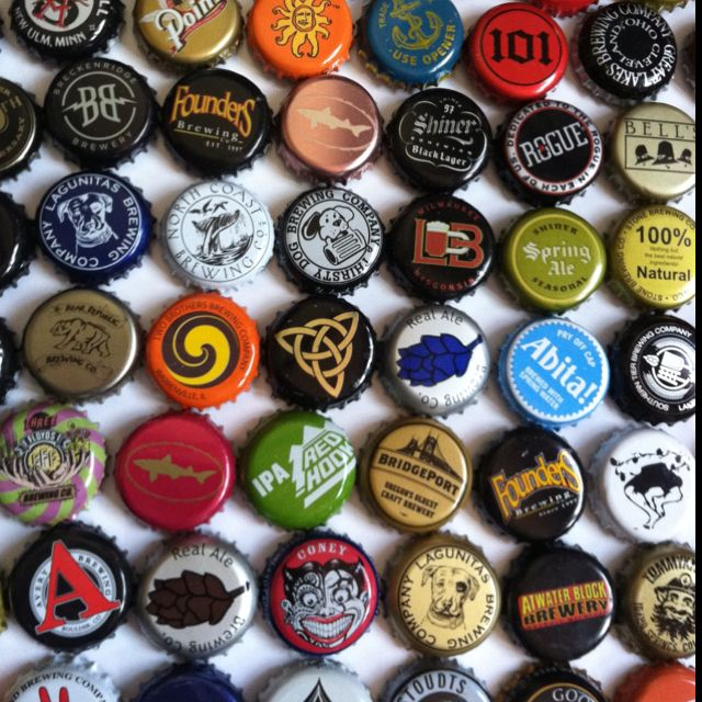 This Isn T My Collection But Would Love To Do Something With All Bottle Cap Craftsbottle Capsbeer Capsgood