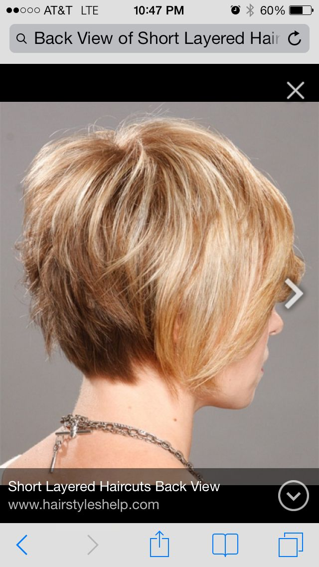 Short Layered Back View Short Hair Styles Hair Styles Short Thin Hair