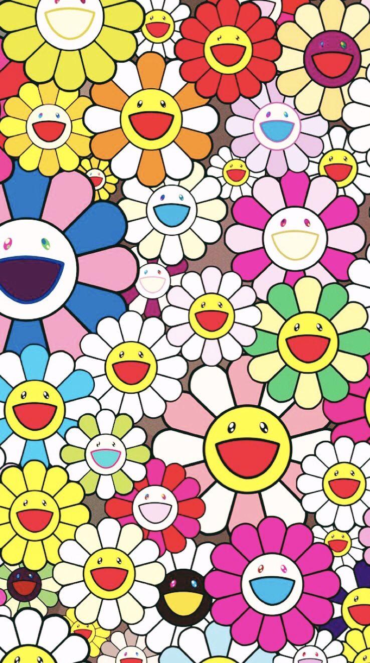 Murakami Murakami Flower Hippie Wallpaper Aesthetic Iphone Wallpaper