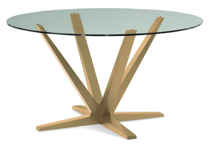 Saloom Furniture Aura Round Dining Table Glass Top Glass Round