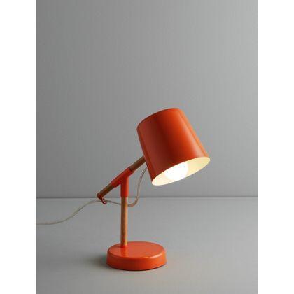 Habitat peeta orange metal and wood desk lamp at homebase be inspired and make