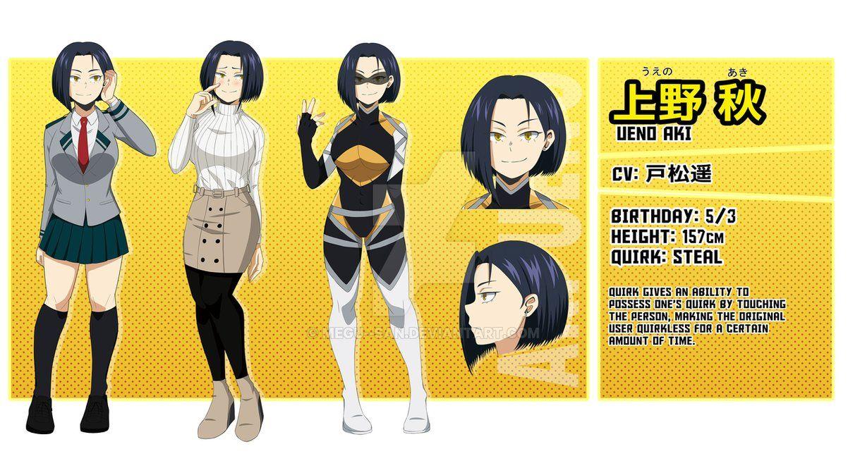 [BNHA OC] Ueno Aki by megusan Hero, My hero academia