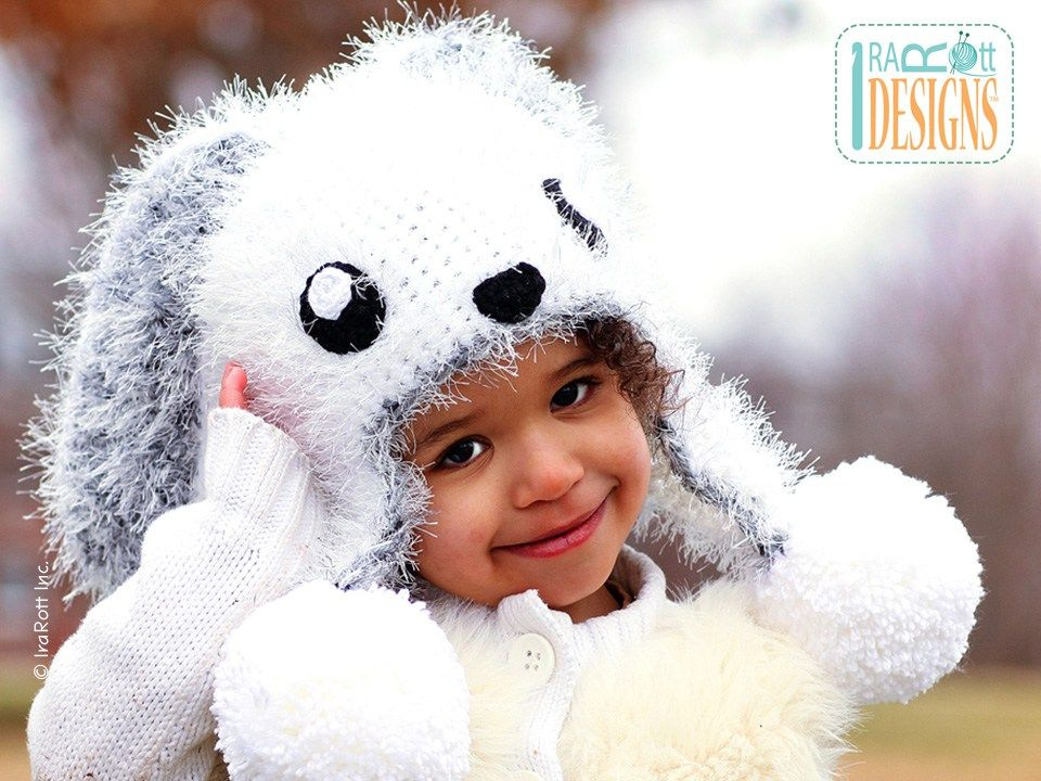 Bunny Rabbit Animal Hat Crochet Pattern For Boys and Girls of all ...