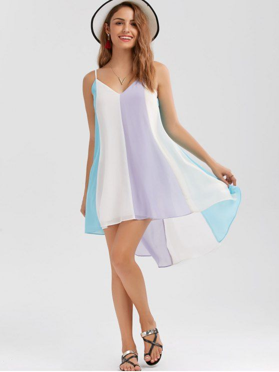 7dff12cb88ed AD : High Low Hem Flowy Slip Dress - COLORMIX Style: Brief Material:  Polyester Silhouette: A-Line Dresses Length: Mini Collar-line: Spaghetti  Strap Sleeves ...