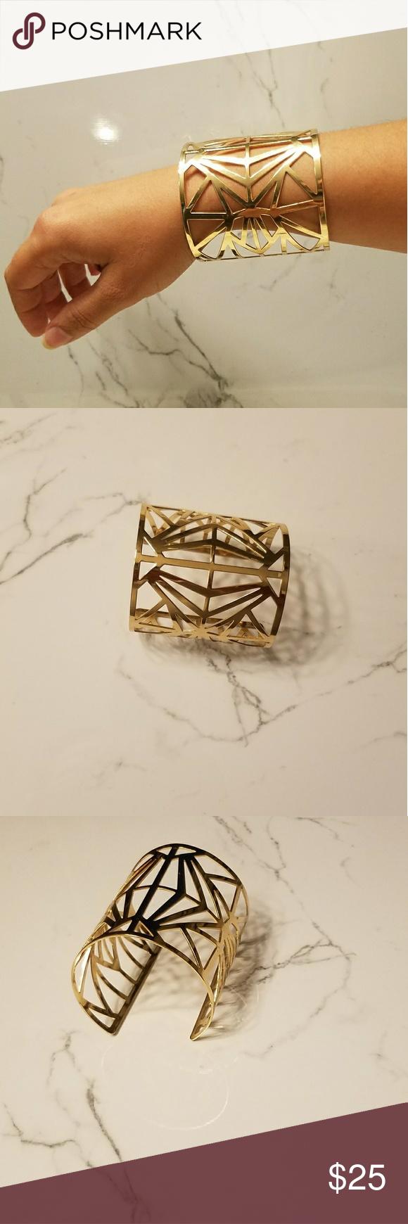 Cuff bracelet abstract design jewelry bracelets bracelets and gold