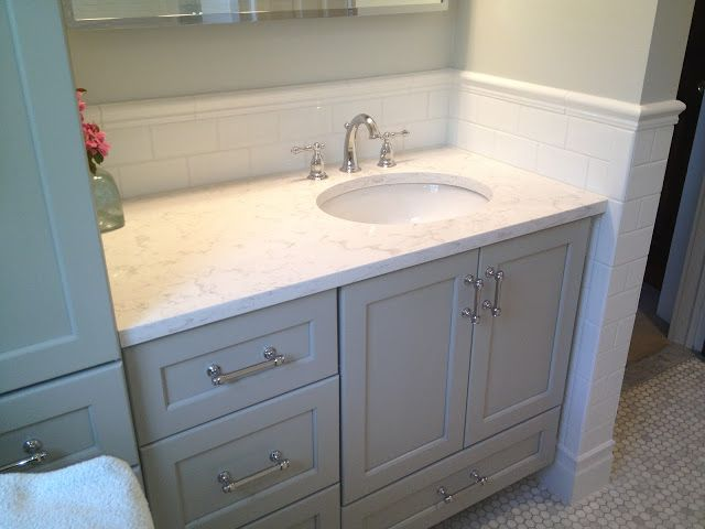 white subway tile 3 x 6 for walls and carrara marble countertop rh pinterest com