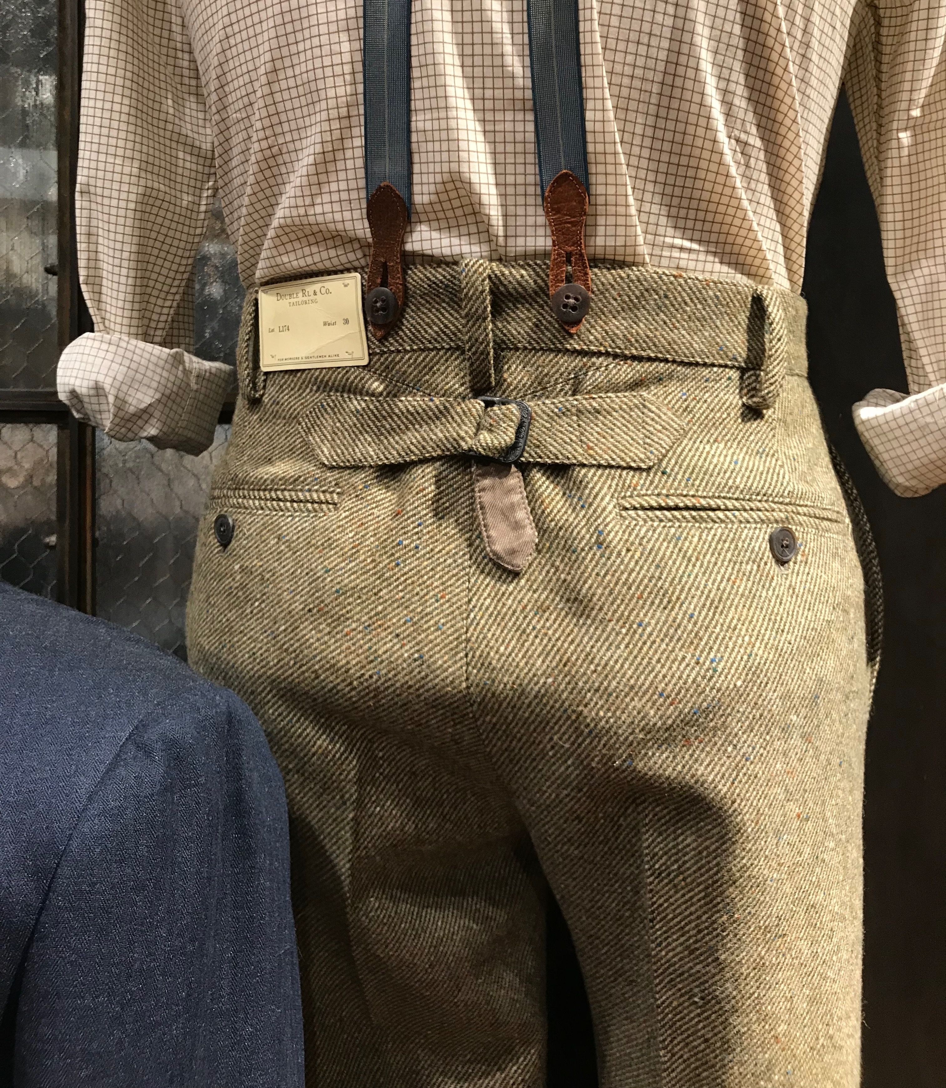 best choice 100% high quality later Tailored cinch-back trousers at RRL Ralph Lauren NYC. Photo ...