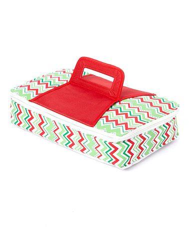 Look at this #zulilyfind! Christmas Chevron Insulated Treat Carrier by DEI #zulilyfinds