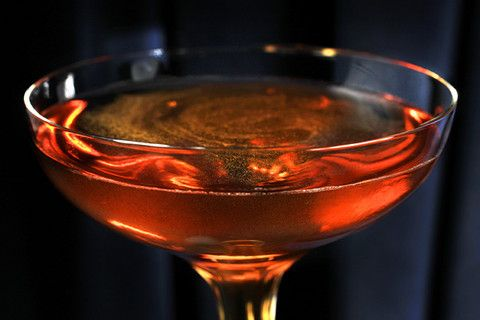 The Widow's Kiss  1 1/2 ounces apple brandy, such as Calvados  3/4 ounce Yellow Chartreuse  3/4 ounce Bénédictine D.O.M.  2 dashes angostura bitters