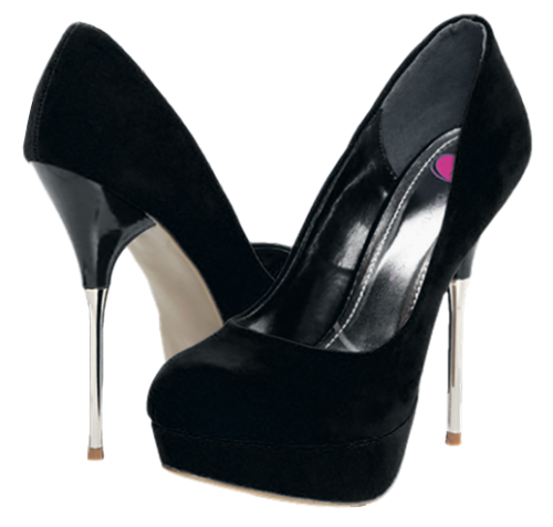 Black Plush Heels Png Clipart Best Web Clipart Heels Clip Art Black