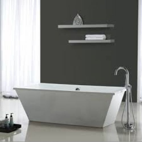Classic and modern bathroom with a Ove Decor, New Waves Bart 2001 - Pose Brique De Verre Exterieur