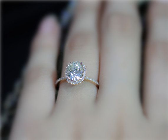 751c53aa6ac13 Oval 1.5 CT Charles & Colvard Forever Classic Moissanite Wedding ...