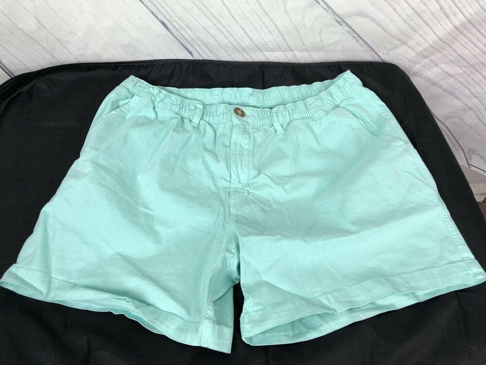 Chubbies mens size xl elastic waist casual shorts aqua
