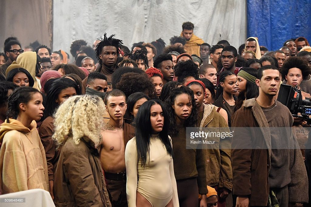 Models Pose During Kanye West Yeezy Season 3 At Madison Square Garden Yeezy Season 3 Yeezy Season Yeezy
