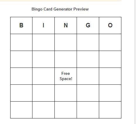 Bingo Card Generator Make And Print Your Printable Bingo Cards Free Bingo Card Generator Free Bingo Cards Bingo Card Generator
