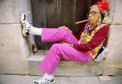 Image result for old woman cigar