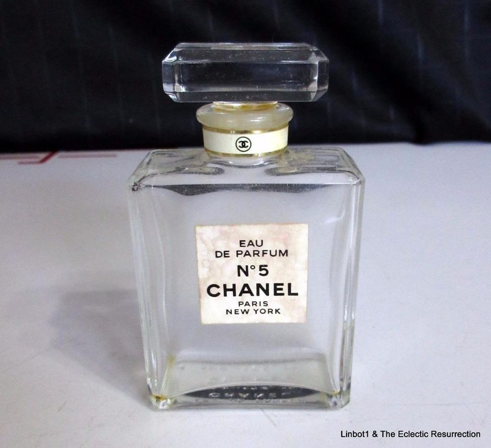 786660aec242 Vintage Chanel No 5 Eau De Parfum Empty Bottle 1.7 oz/50 ml Vanity Prop  France