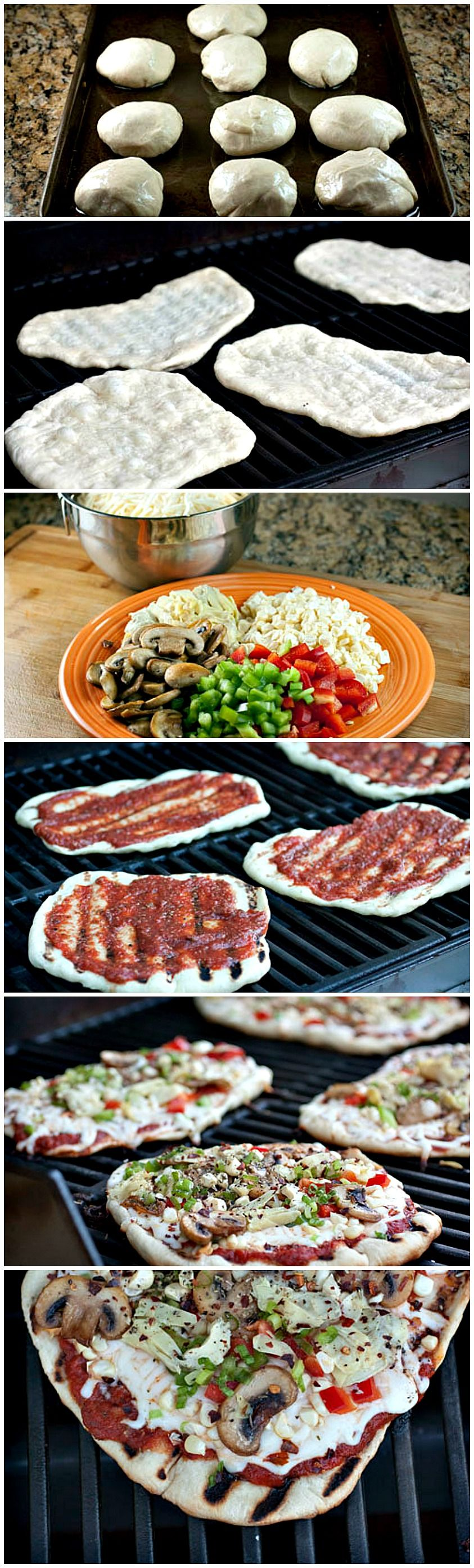 Mini Grilled Pizzas #grillingrecipes