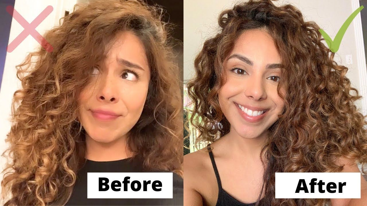 How To Prevent Frizzy Hair Enhance Definition In Curly Hair 2c 3a Cu In 2020 3a Curly Hair Curly Hair Tips Frizzy Curly Hair