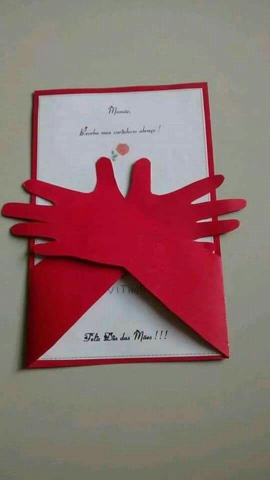 Cartões para o dia das mães com papel