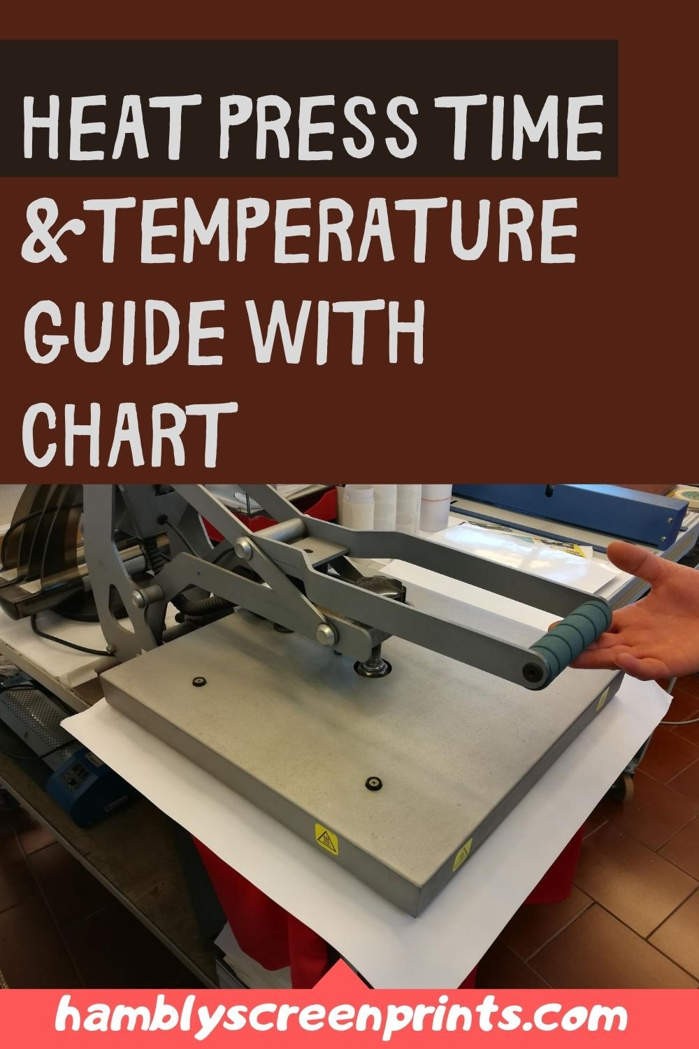 Heat press time and temperature 2020 guide with chart in