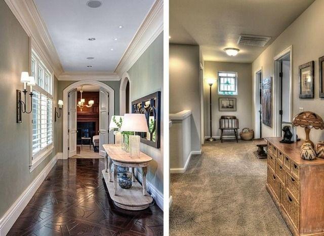 flur ideen f r edle wand gestaltung in grau und seinen schattierungen flur und treppenhaus. Black Bedroom Furniture Sets. Home Design Ideas