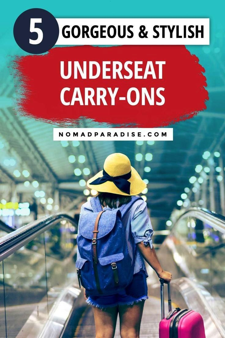 Best Underseat Luggage Picks to Avoid Packed Overhead Compartments  Nomad Paradise Wheeled carryon underseat bags a great travel hack for bringing your travel essentials...