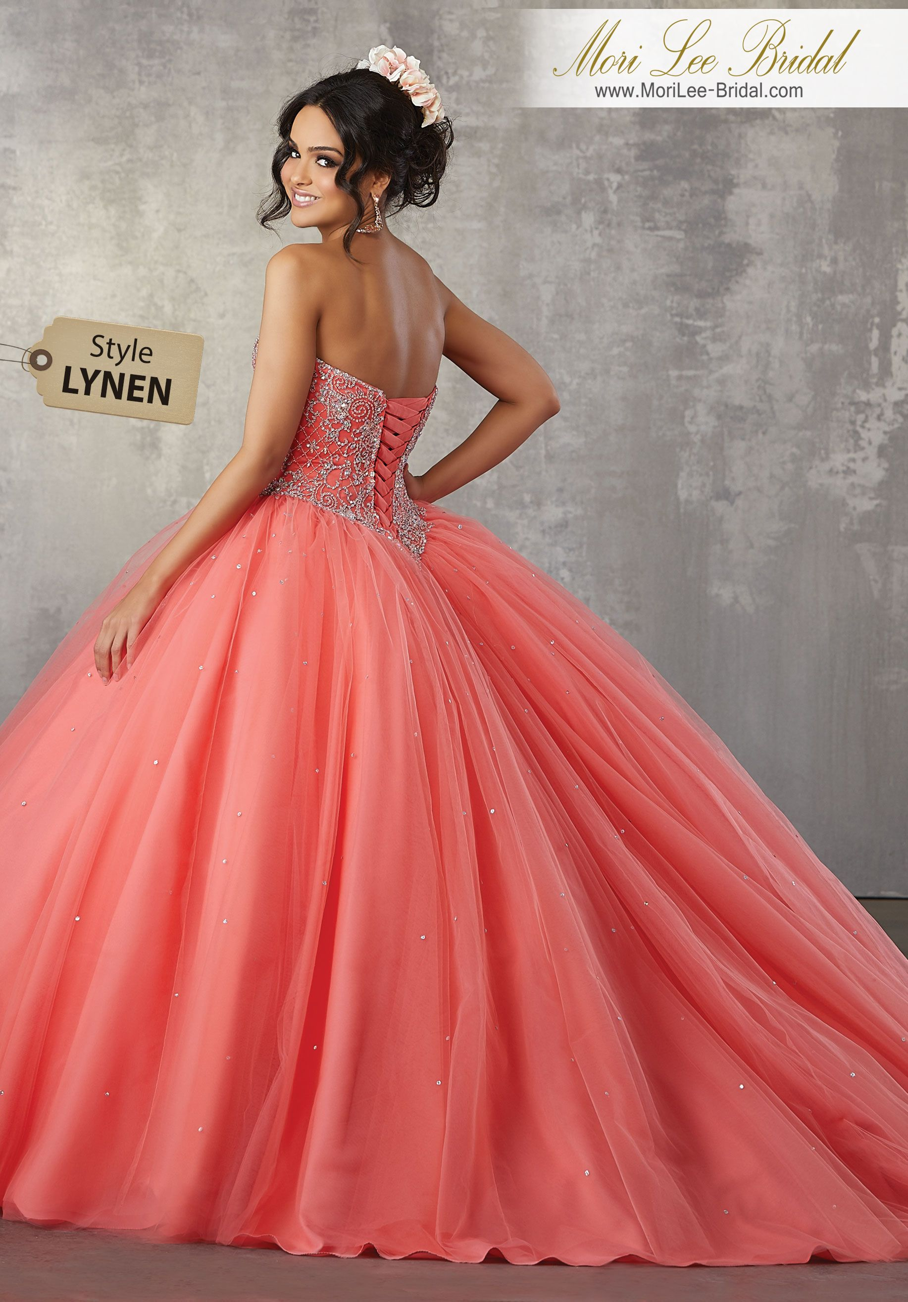 e16fc1c47a Style LYNEN Rhinestone and Crystal Beaded Bodice on a Tulle Ballgown  Princess Perfect
