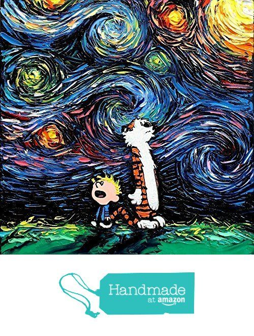Calvin and Hobbes Inspired Art - Poster Print - What If van Gogh ...